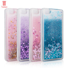 Huawei P8 Lite/P8 Fashion Dynamic Flowing liquid Glitter Colorful Paillette Sand Quicksand soft TPU Case Cover For Huawei P8Lite
