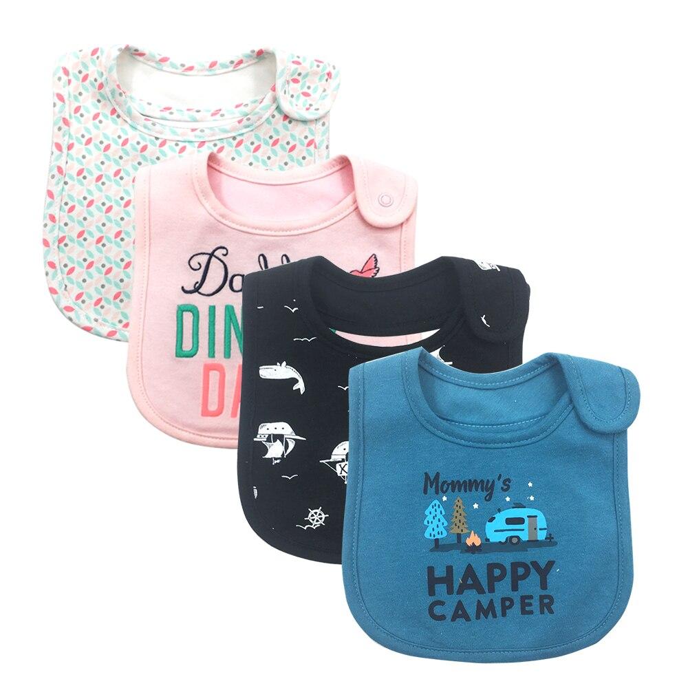 100% Cotton Baby Bibs Waterproof Bandana Baby Girls boys Bib