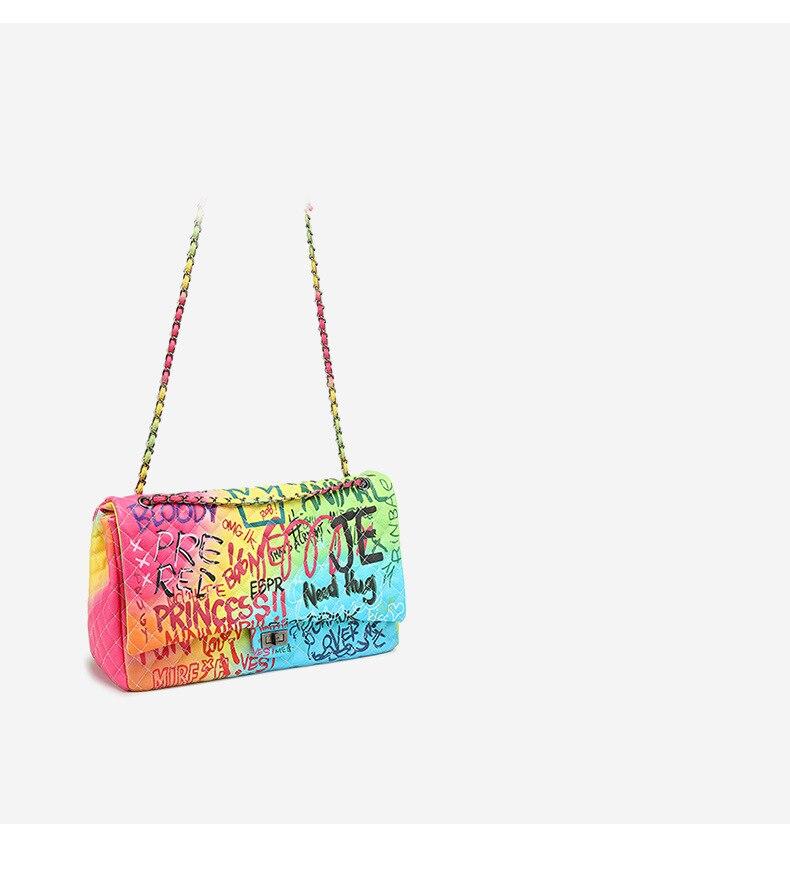 corrente bolsa de ombro alta qualidade colorido