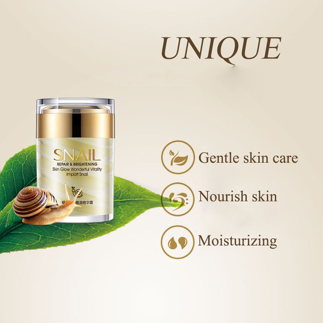 Snail Face Cream Collagen Essence Facial Skin Care Moisturizing Anti Aging Anti Wrinkles Whitening Day and Night Creams 60G 3