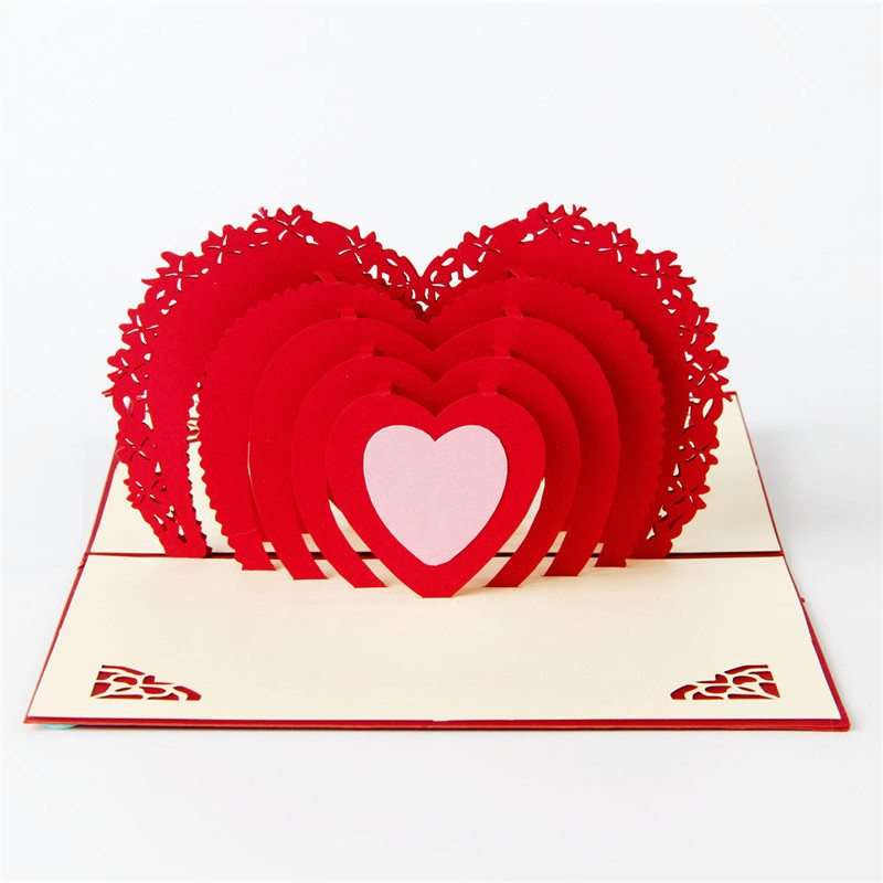 1PCS Creative Valentine's Day greeting cards