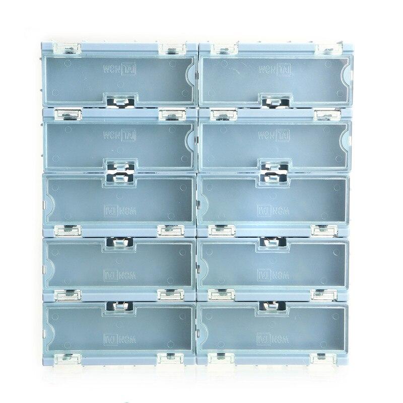 TMOEC 10Pcs SMT Kit Storage Box Case SMD Kit Lab Chip Components