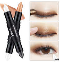 1Pcs New Fashion Brand Eyes Shadow Color Glitter Makeup Waterproof Metallic Silver White Gold Glitter Eyeshadow Color Pencil