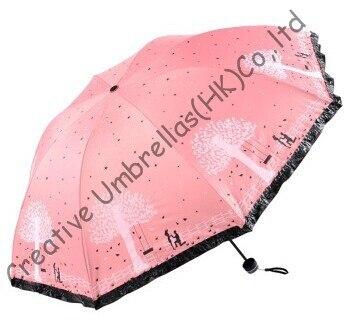 Имитация рай, три раза, шнуровка бахрома, открытый, ветрозащитные, сумка зонтик, УФ-защита, черное покрытие, любителей Зонты