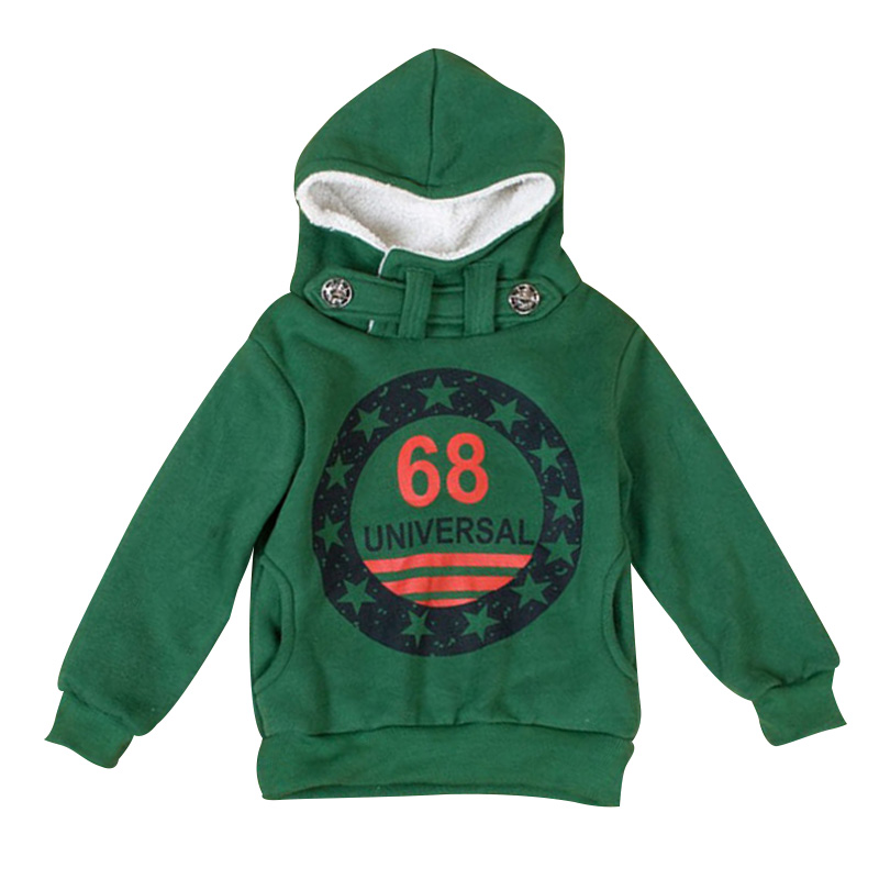 2017 Spring Autumn Children Sweatshirts Baby Boys Cashmere Sweater Warm Hooded Coat Kids Star Letters Print Hoodies Tops Clothes