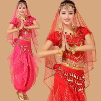 2016 Belly Dance Set New India Dance Costume Stage Performances And High Grade Rotating Short Sleeved