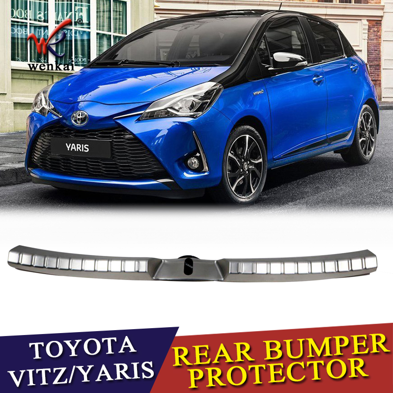 Car Styling Sequins For Toyota Vitz Yaris 2017 2018 2019 Exterior Protective Pad On The Rear