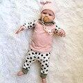 Новый 2017 осенью ребенок мальчик одежда хлопка с длинным рукавом лоскутное 3 шт. костюм девочка одежда набор новорожденных малышей младенческой наряды