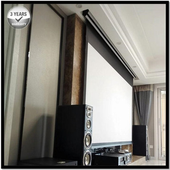 Premium Tab-Tension AcousticPro, 2.35:1 UltraWide 4K/8K Ultra HD Electric Sound Transparent Perforated Woven Projector Screen фото