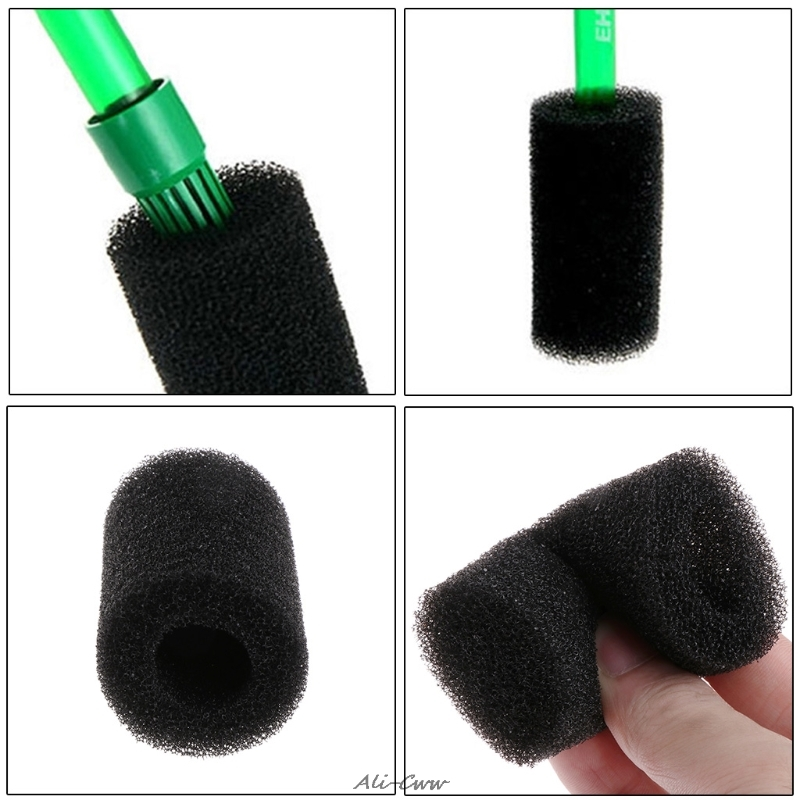 1set 5Pcs Sponge Aquarium Filter Protector Cover For Fish Tank Inlet Pond Black Foam Aquario Filters
