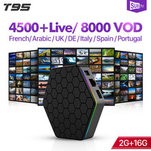 SUBTV France Italia arabe IPTV Box T95Zplus 2 + 16G Android 7.1 BT double-bande WIFI français italie français Portugal IPTV 1 an SUBTV(China)