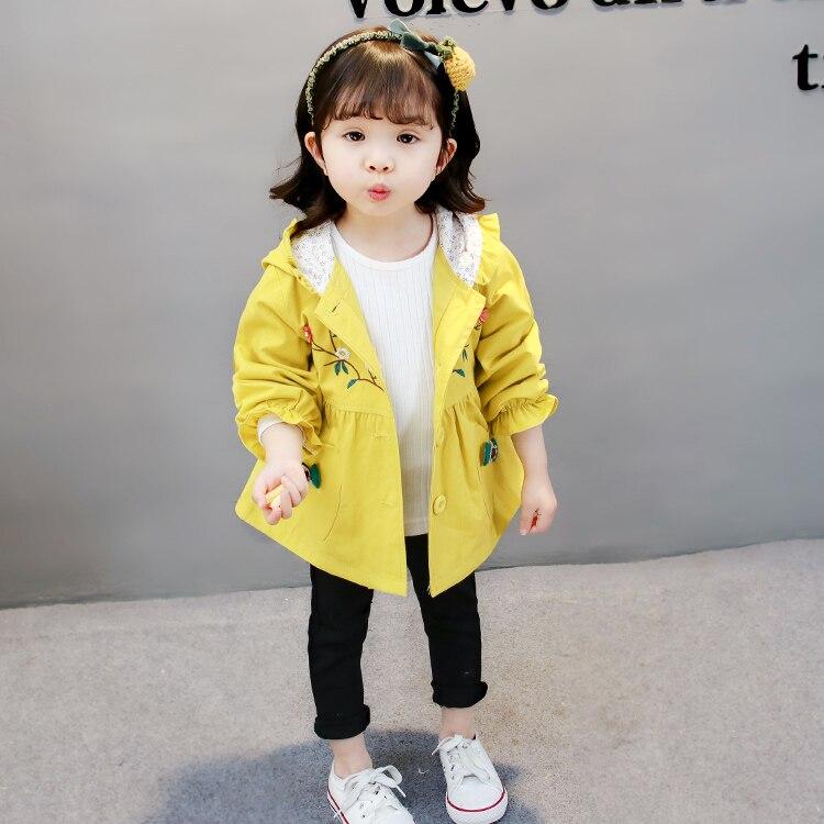 Цветок Куртки для маленьких мальчиков и девочек 2018 Весна Детское пальто с капюшоном для девочек Overcaots Infantil верхняя одежда хлопковая детская...