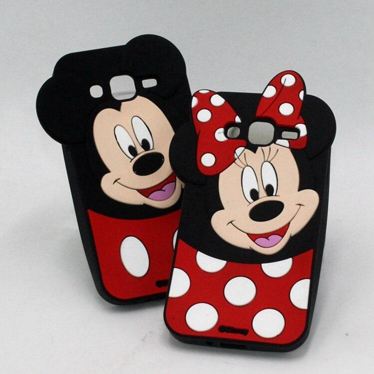 Galleria fotografica 3D Cartoon Minnie Mouse Soft Silicone Back Cover For Samsung Galaxy J1 J2 J3 J5 J7 2016 A3 A5 A7 2017 J5 J7 Prime Phone Cases