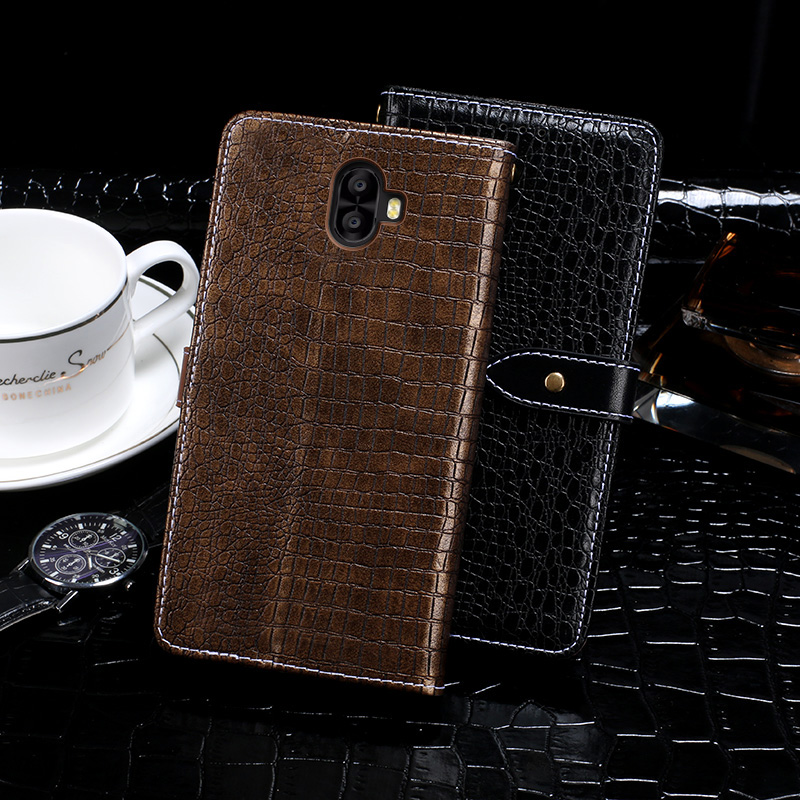 Itgoogo For Oukitel K8000 Case Cover 5.5 Hight Quality Flip Leather Case For Oukitel K8000 Cover Crocodile skin Phone Bag