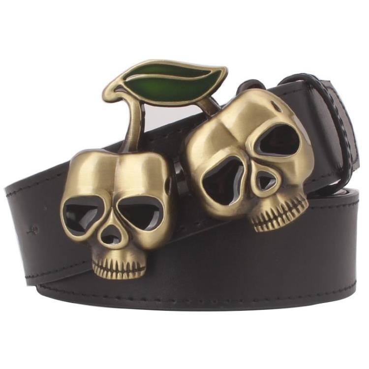 Heavy Metal Cowboy Punk Belt Genuine Leather Hip Hop Belts For Men Cross Rivet Jeans Belt Male Strap Ceinture Homme PT69