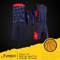 URBEX Custom Star Basketball Jerseys Uniform Personalize Blank Plain Set DIY Your Own Team Kit Customize Design Logo XF1001