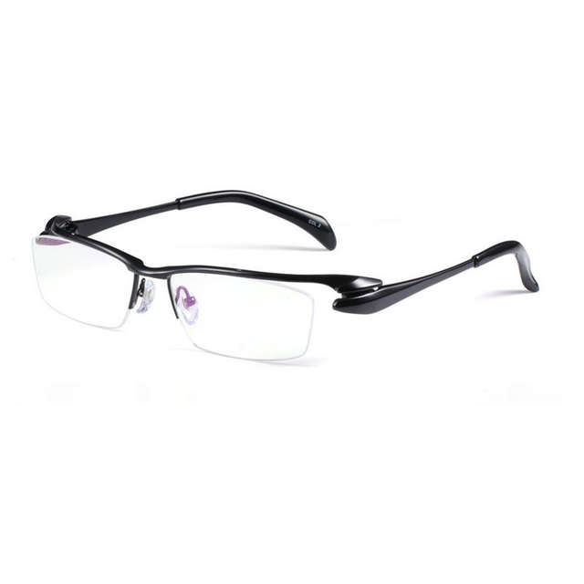 2ed9c12b26c placeholder MINCL Brand Pure Titanium Ultra Light Tint Glass Men Stylish  Eye Glasses Frame Diamond Trimmed