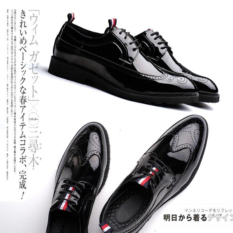 Noir Décontractées Pointu Tendance Nouveau Sculpté Bullock Chaussures Homme 6HwAqzp1
