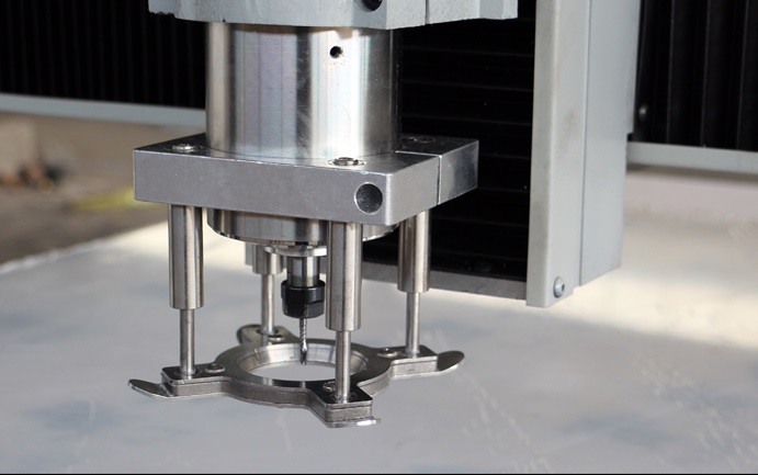 CNC engraving machine 65mm spindle automatic <font><b>Floating</b></font> platen plate clamp clamps for thin metal, abs, acrylic