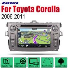 ZaiXi Android Car DVD GPS Navi For Toyota Corolla 2006~2011 player Navigation WiFi Bluetooth Mulitmedia system audio stereo EQ цена и фото