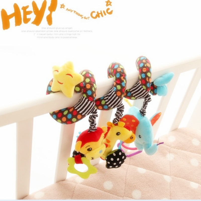 Free Shipping Baby Toy Educational Mobile Baby Cot Bed Hanging Bell Newborn Infant Stroller Crib Rattles/Mobile Toys For Kids