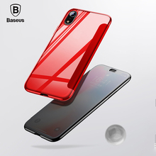 Baseus Luxury Tempered Glass Filp Case For iPhone Xs Xs Max 2018 Chic Full Coverage Protective Phone Case For iPhone Xs XR Cover