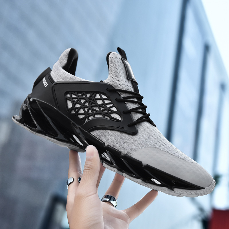 Fashion Running Shoes for Men's Sneakers City Outdoor Sports Shoes for Male Hard Court Casual Walk Shoes Flywire Breathable Shoe