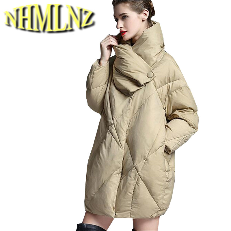 Super Warm Winter Jacket 2017 New Fashion Women Outerwear High quality Cotton jacket Loose Thick Large size Coat Women G2853