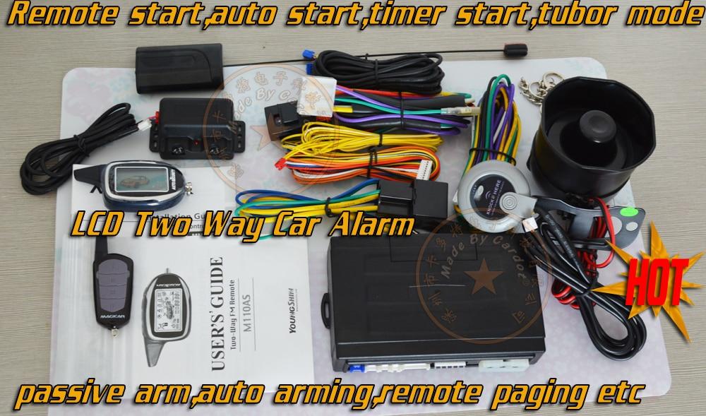 Licht Alarm Auto : Zwei weg auto sicherheit system ist mit fern lcd fernbedienungen