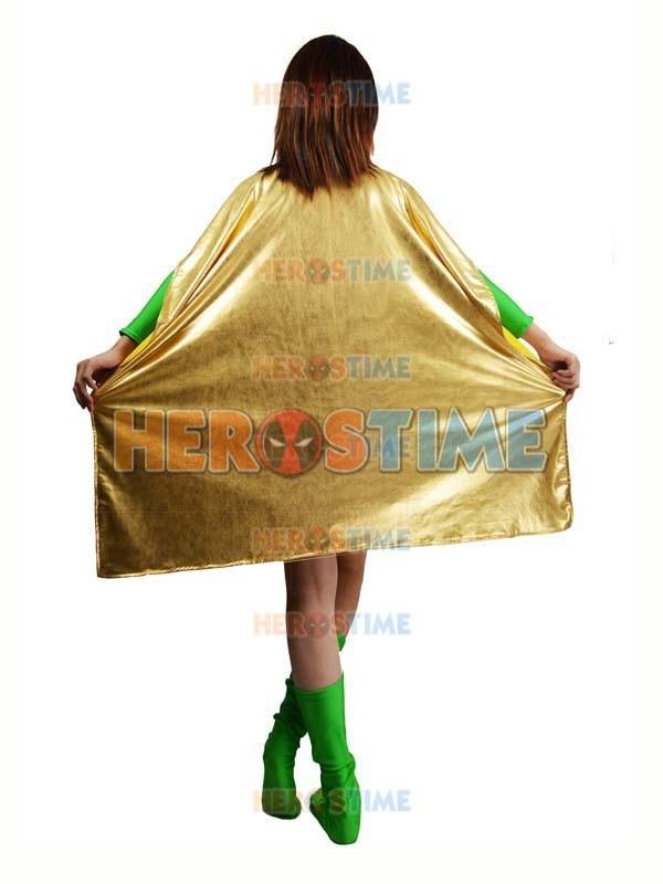 Spandex verde y Light Gold Metallic Superhero Costume disfraces de - Disfraces - foto 6