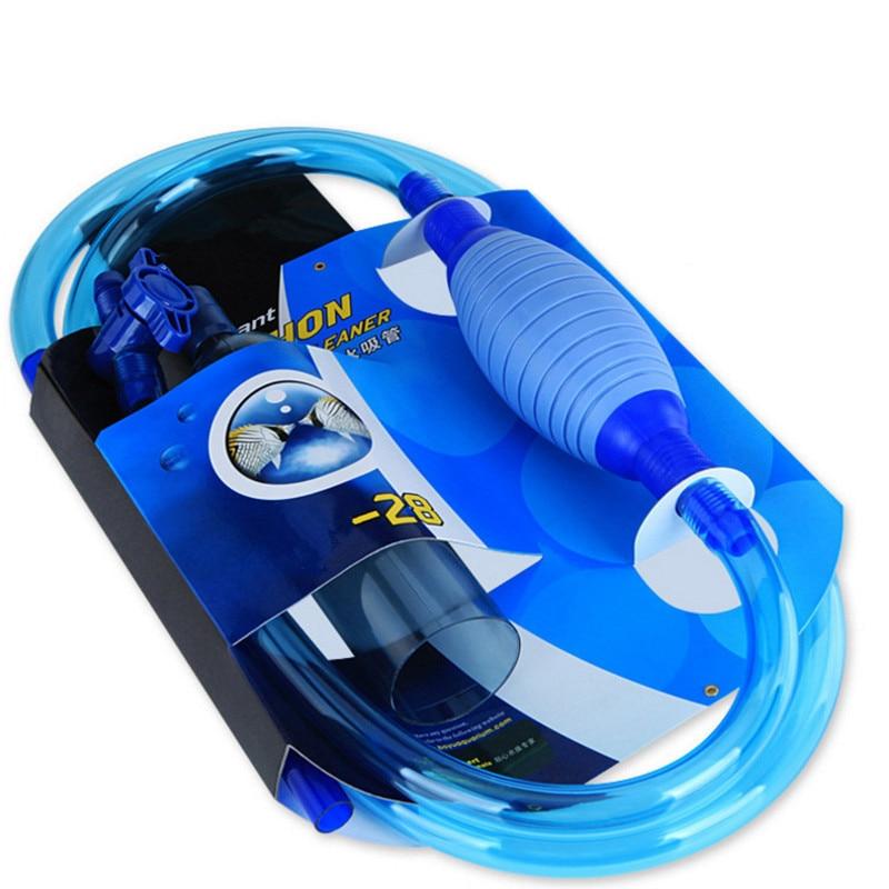 Aquarium Gravel Vacuum Cleaner Tool Siphon Fish Tank Washing Sand Changing Water Semi-automatic Filter Aquario Aquarium Cleaner
