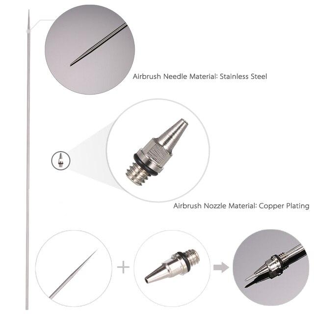 0,2mm/0,3mm/0,5mm boquilla de aerógrafo tapa de aguja repuesto PISTOLA DE PULVERIZACIÓN herramienta de pintura de pulverización cuerpo Brushwork accesorios de maquillaje