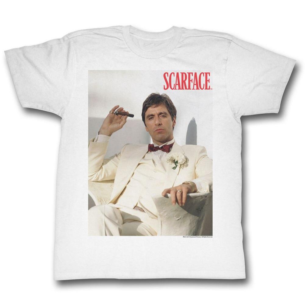 Scarface Chillin белая футболка новый Для мужчин лето Топы корректирующие Повседневная Рубашки для мальчиков