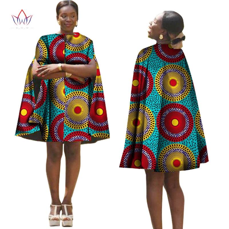 Letní Afrika ženy šaty s pláštěm afrického tradičního vzoru tištěné šaty zpět na zip plus velikosti společenské šaty WY1319