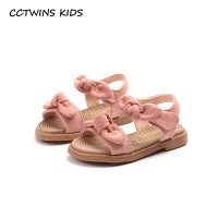 CCTWINS KIDS 2018 Summer Baby Girl Barefoot Butterfly Sandal Children Fashion Pink Flat Toddler Brand Princess