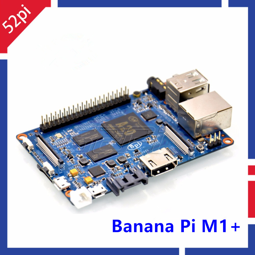 Banana Pi M1+ plus BPI-M1+ Dual Core A20 1GB RAM on-board WiFi Open-source singel-board computer SBC banana pi m1 bpi m1 open source development board in stock free shipping