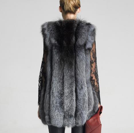 Moelleux 2018 Faux Gilet Fausse Z35 Artificielle La D'hiver De Hiver Fluffy Fourrure Femme Manteau Femmes Plus Taille Veste wwqRt