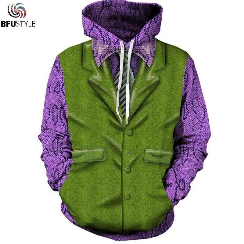 Joker Unisex Hoodie Hoodies Men Women New Fashion Autumn Winter Pullover Tracksuit Sudadera Hombre Casual Sweatshirts