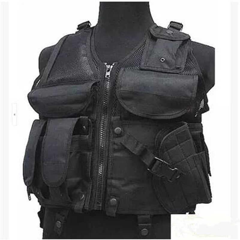 Outdoor Hunting Fish Sports Mesh Airsoft Waistcoat Mens CS Tactical Combat Camouflage Vest Sleeveless Jacket Protective Gear