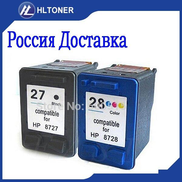 2pcs Compatible ink cartridge 27 28 for hp Deskjet 3320 3325 3420 3425 3520 3535 3520v