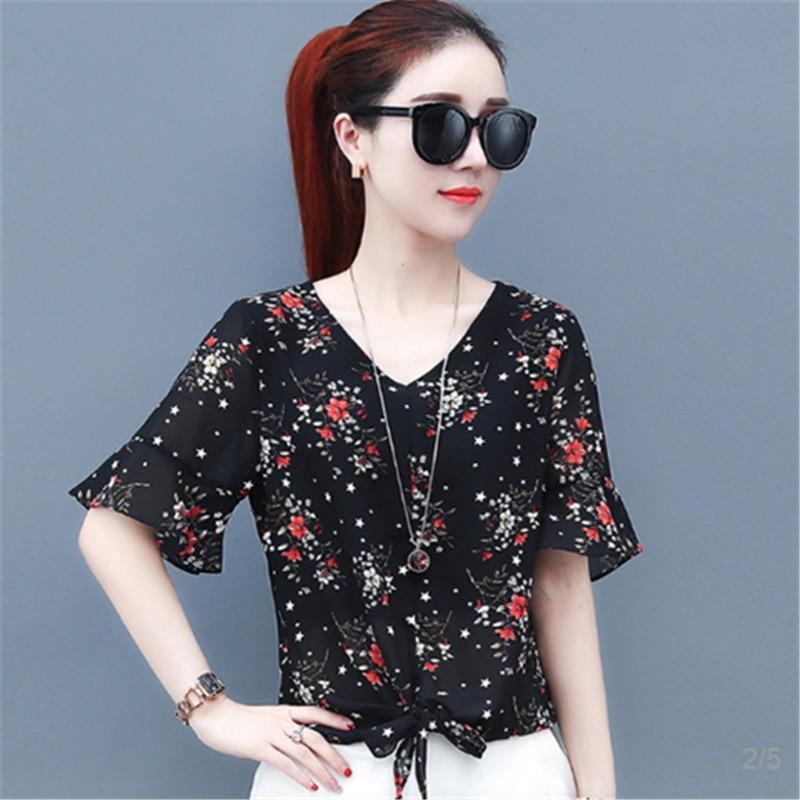 Brand New Design Women Spring Summer Style Chiffon   Blouses     Shirts   Lady Girls Casual Bow Tie Decor Blusas Tops Feminina DF1631