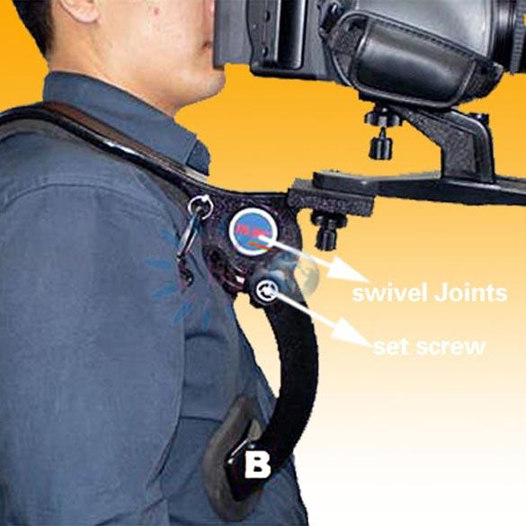 Hands Free Shoulder Pad Support Stabilizer 5KG max Load Capacity for Camcorder Video Camera DSLR for Universal Camcorder-Video