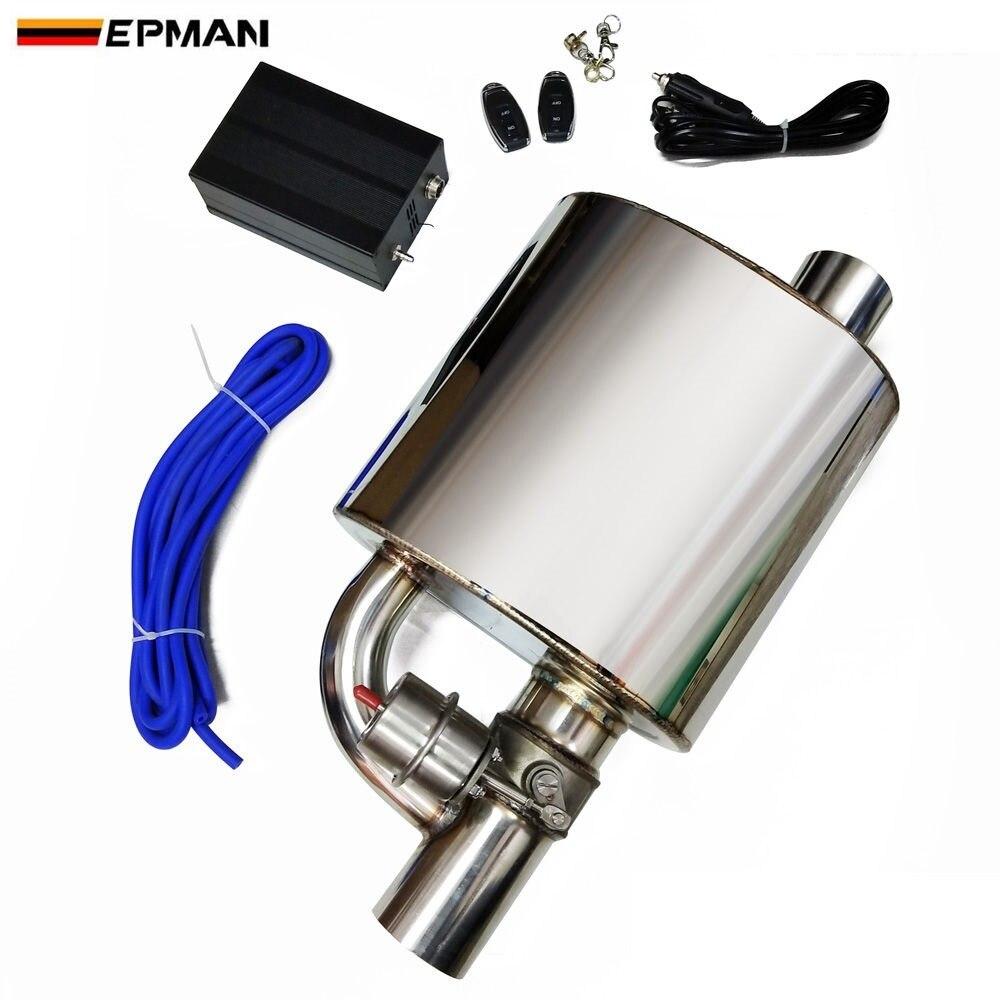 Mufla wydechowa z zawór zrzutowy elektryczny układ wydechowy wycinanka zestaw zdalnego sterowania rozmiar: 2