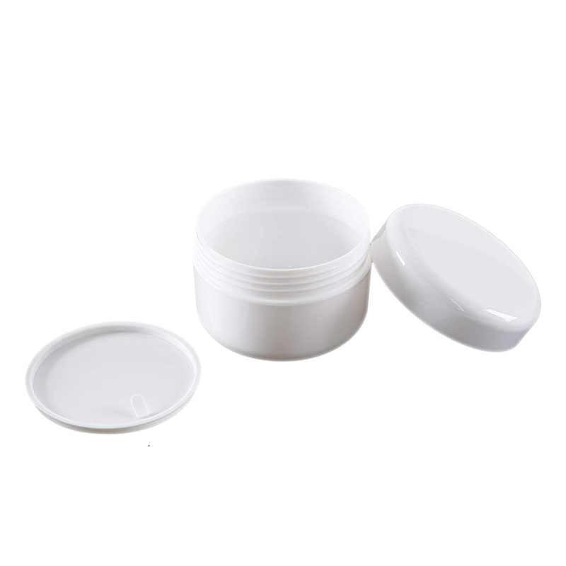 30 個プラスチック空のメイクアップジャーポット 10 グラム/20 グラム/30 グラム/50 グラム/100 グラム詰め替えボトル顔クリームローション化粧品容器白