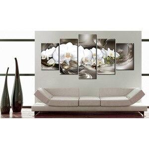 Image 5 - Diy モザイクダイヤモンド塗装ダイヤモンド刺繍クロスステッチ平方ダイヤモンドの家の装飾絵画トリプティク蘭 5 ピース/セット gx