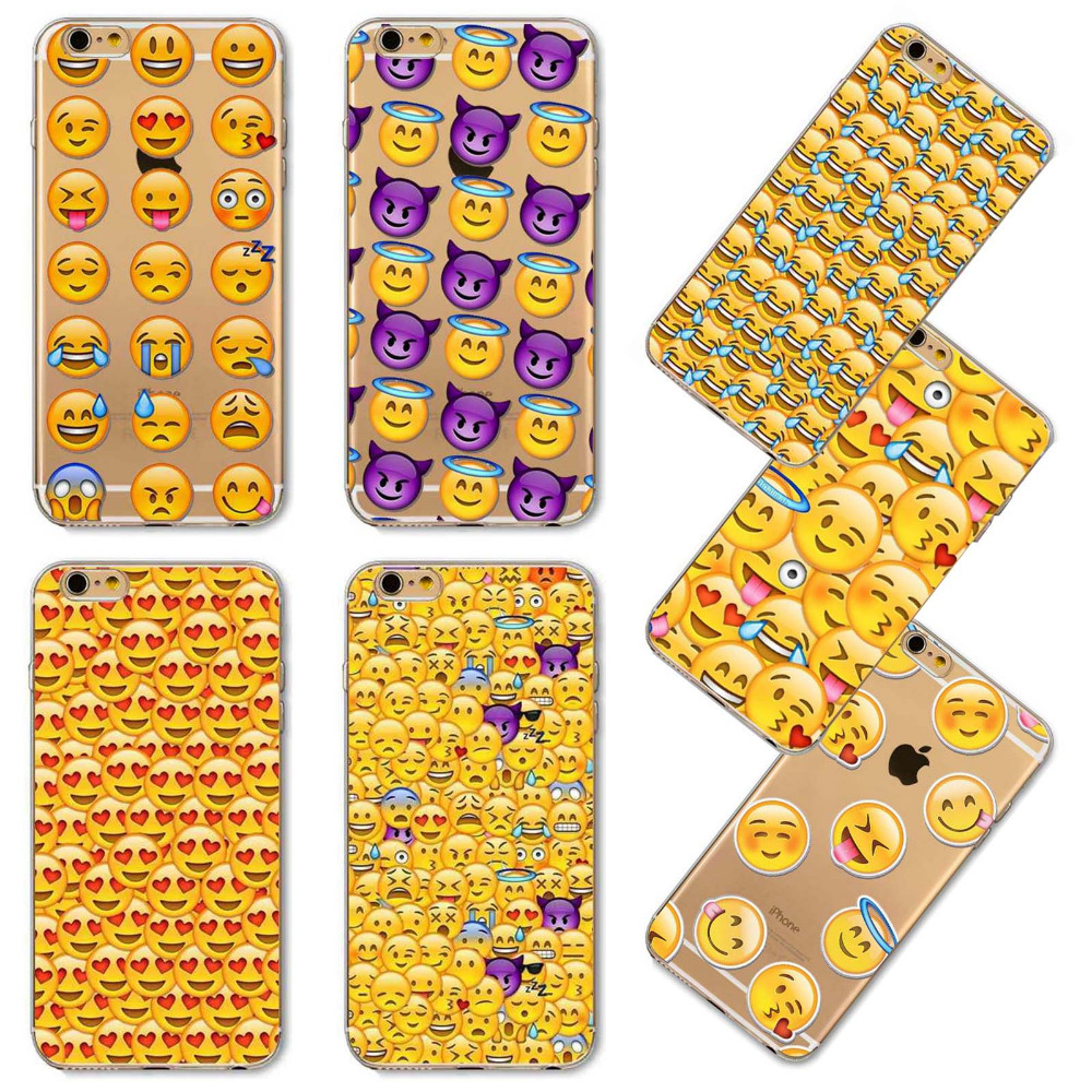 Teléfono case tpu soft mono divertido case para iphone 4 4s 5 emoji 5S SÍ 5c 6 6