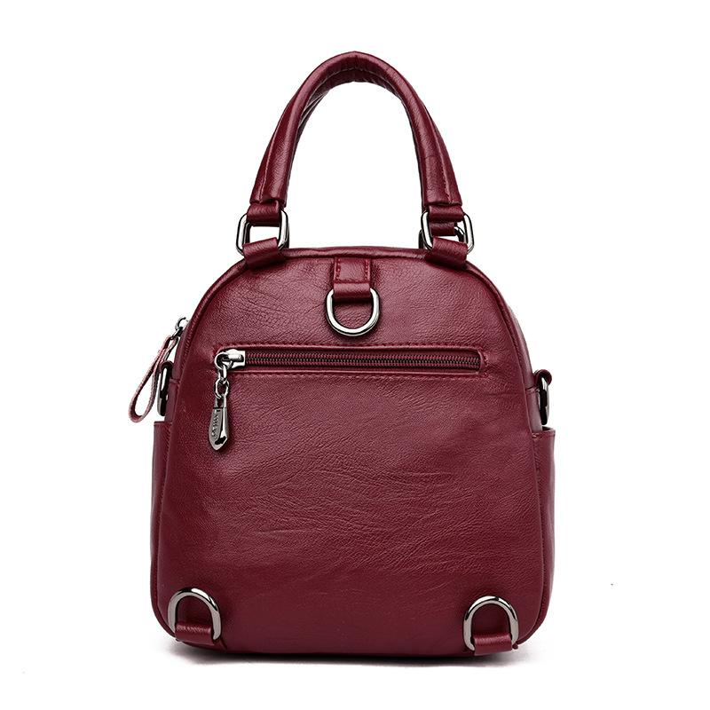 Multifunctional Backpack Women Leather Backpack Rucksack Female Shoulder Bag School Casual Daypack for Girls Sac A Dos Femme in Backpacks from Luggage Bags