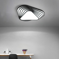 NEO Gleam Black or White Finish Living Room Bedroom Study Room Ceiling Lamp Modern Led Creative Ceiling Lights Free Shipping