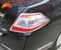 For Nissan Teana 2009 2010 ABS Chrome Rear Tail Light Lamp Cover Trim Car Styling Auto