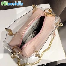Messenger Shoulder bags Day-to-day shopping for women 2018 Hot Sale exquisite Transparent Bag High Quality genuine brands S1579